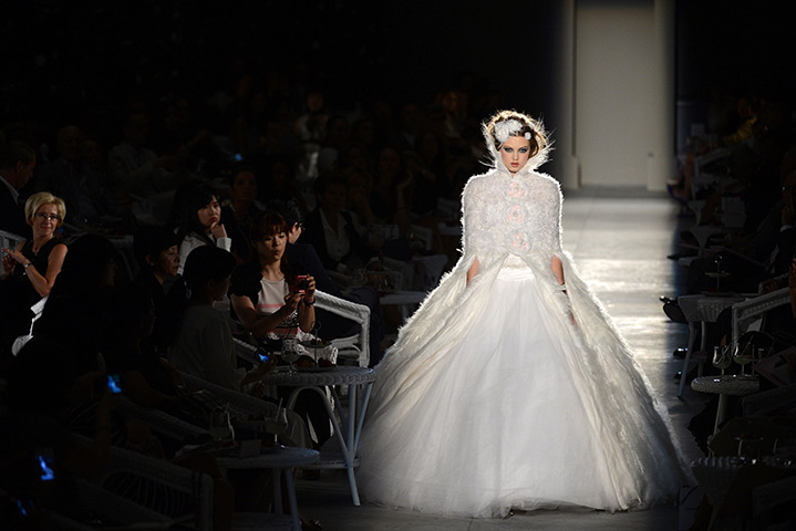 Chanel Haute Couture: Lindsey Wixson wearing Chanel Haute Couture Autumn/Winter 2012/13